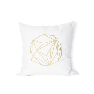 Printed Copper Moon Cotton Throw Pillow