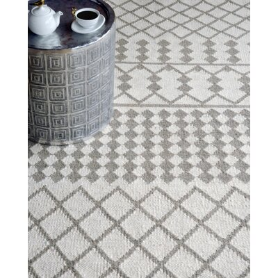 Henning Hand-Woven Ivory/Gray Area Rug Rug Size: 8 x 10