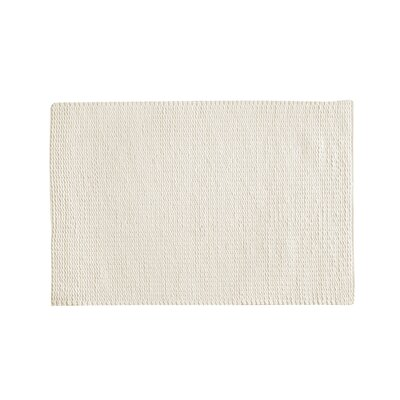 Nisse Hand-Woven Ivory Area Rug Rug Size: 5'2