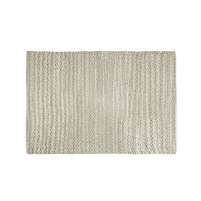 Asta Hand-Woven Natural Area Rug Rug Size: 53 x 76