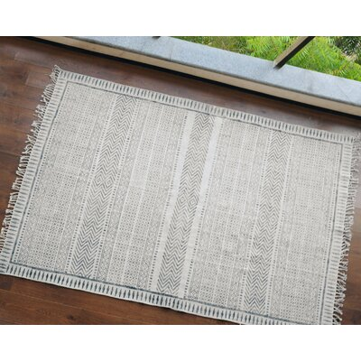 Freja Hand-Woven Natural/Gray Area Rug