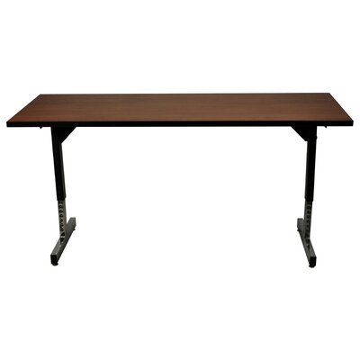 60 W 615 Adjustable Training Table Tabletop Finish: Grand Cherry, Size: 30 x 60 x 30