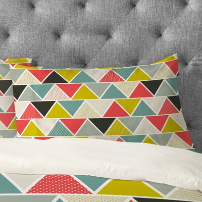Heather 2 Piece Dutton Triangulum Pillowcase Size: King