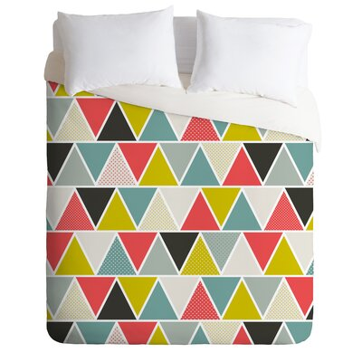 Heather Dutton Triangulum Duvet Cover Size: Queen, Fabric: Lightweight