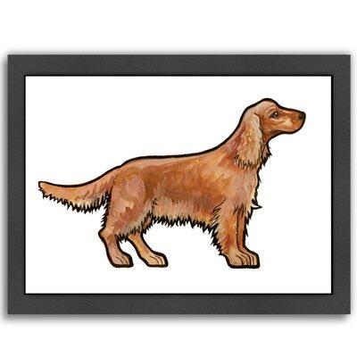 """Golden Cocker Framed Painting Print Size: 20.5"""" H x 26.5"""" W x 1.5"""" D EUNH1174 33229994"""