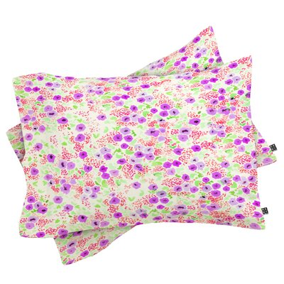 Faded Floral Pillowcase