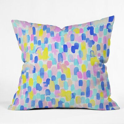Throw Pillow Size: 16 H x 16 W x 4 D, Color: Delight Pastel