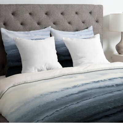 The Tides Stormy Weather Duvet Cover Size: King