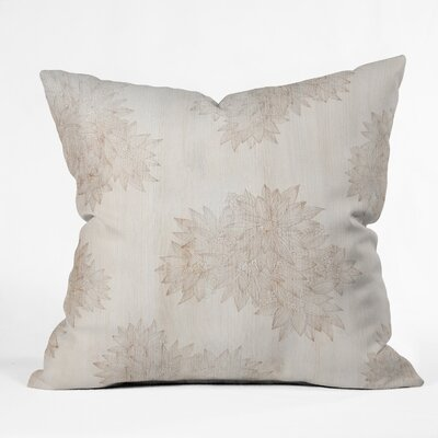 Throw Pillow Size: 16 H x 16 W x 4 D, Color: Beige