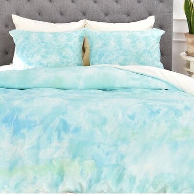 Sparkling Sea Duvet Cover Size: King