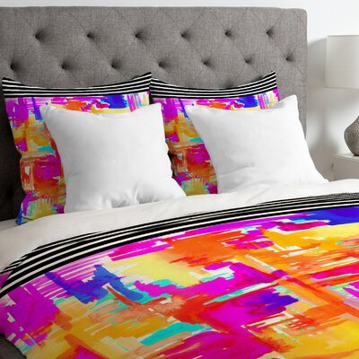 Holly Sharpe Chaos 1 Duvet Cover Size: King