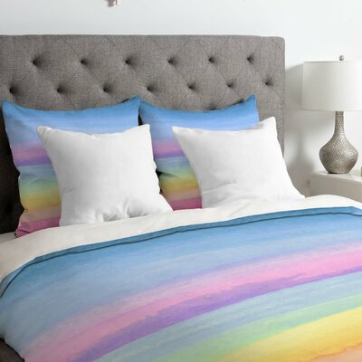 Rainbow Ombre Duvet Cover Size: King