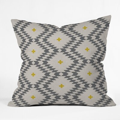 Holli Zollinger Throw Pillow Color: Gray/Gold, Size: 18 H x 18 W x 5 D