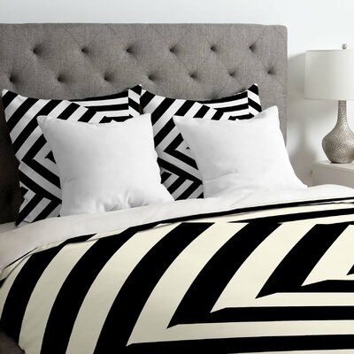 Three of The Possessed Dazzle Uptown Duvet Cover Size: Queen