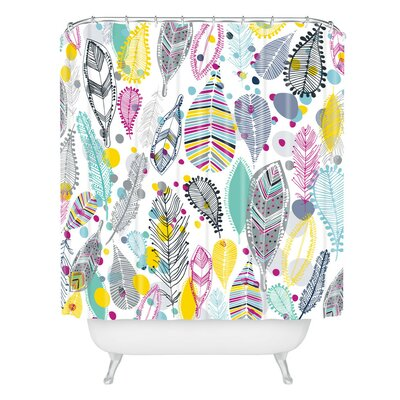 Rachael Taylor Feather Trail Shower Curtain