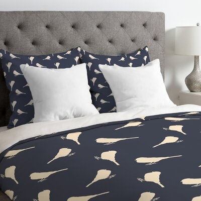 Little Birdies Duvet Cover Size: Queen