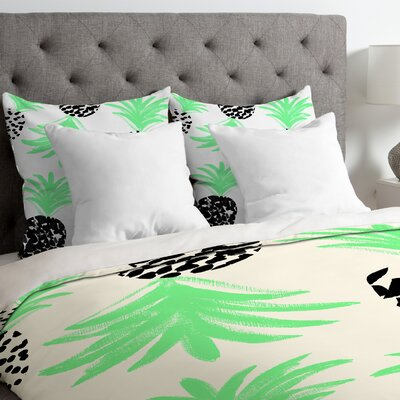 Pineapples Duvet Cover Size: King