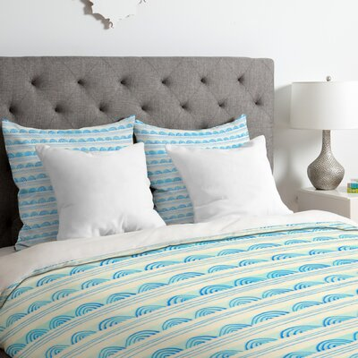 Scallops Duvet Cover Size: King