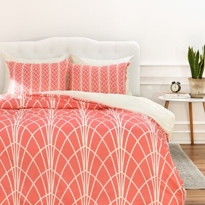 Heather Dutton Arcada Persimmon Duvet Cover Size: King