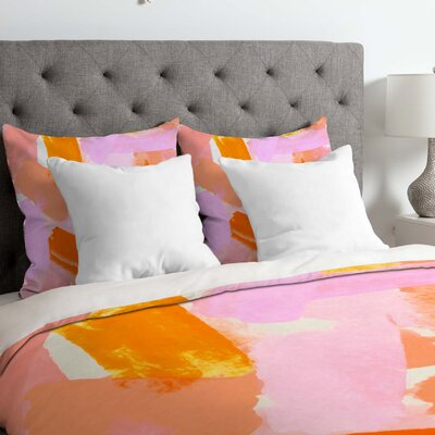 Rebecca Allen Covered in Blush Duvet Cover Size: King