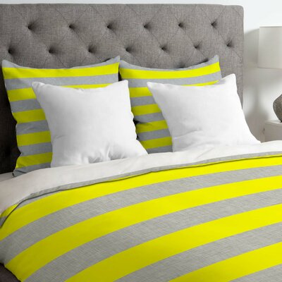 Bright Stripe Duvet Cover Size: Queen