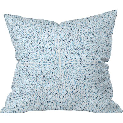 Cornflower Field Throw Pillow Size: 16 H x 16 W x 4 D
