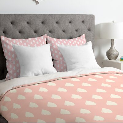 Allyson Johnson Dainty Blush Duvet Cover Size: King