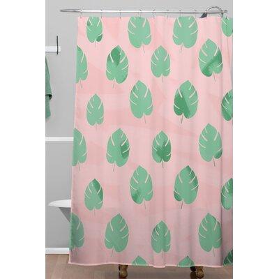 Allyson Johnson Palm Spring Leaves 2 Shower Curtain