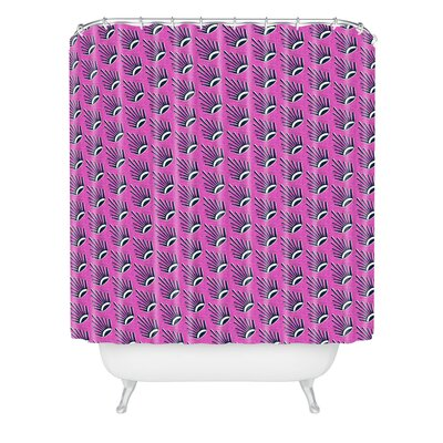 Caroline Okun Raspberry Suns Shower Curtain