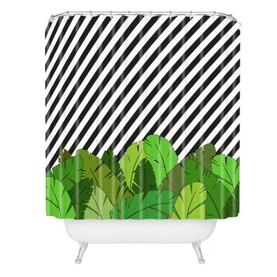 Bianca Green Direction Take A Right Shower Curtain