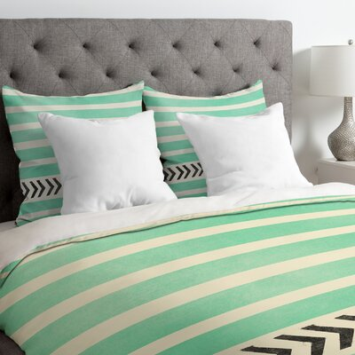 Stripes and Arrows Duvet Cover Size: King