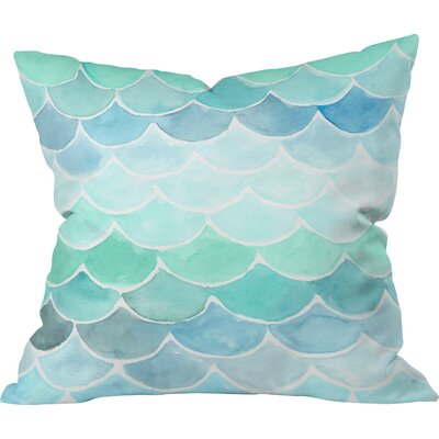 Mermaid Scales Throw Pillow Size: 18 H x 18 W x 5 D