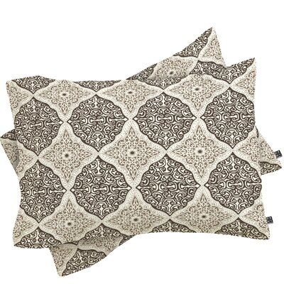 Curly Rhombus Neutral Pillowcase