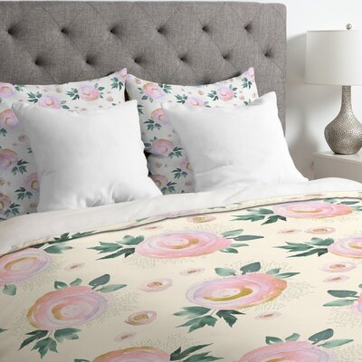 Iveta Abolina Rose Taffy Duvet Cover Size: King