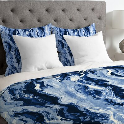 Ocean Melt Duvet Cover Size: King