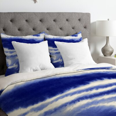 Ombre Waves Duvet Cover Size: Queen