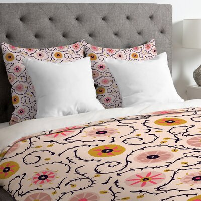 Suzani Duvet Cover Size: King