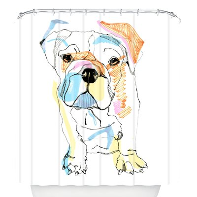 Bulldog Color Shower Curtain