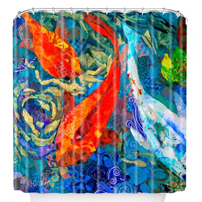 Elizabeth St Hilaire Nelson Koi Shower Curtain