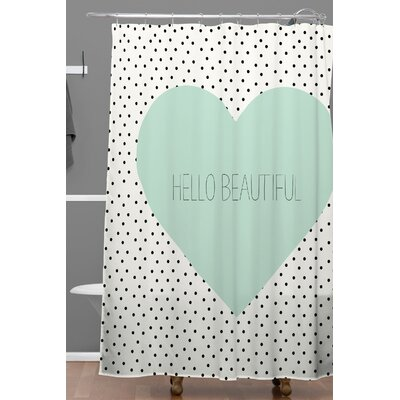Hello Beautiful Heart Shower Curtain