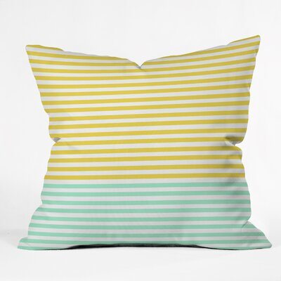 Stripes Throw Pillow Size: 18