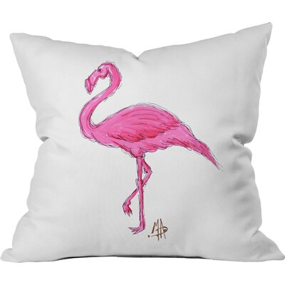 Flamingo Throw Pillow Size: 16