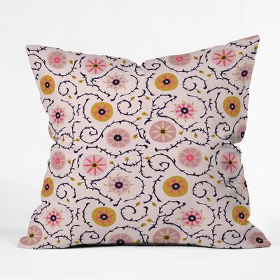 Suzani Throw Pillow Size: 18