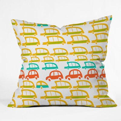 Cars Throw Pillow Size: 16 H x 16 W x 4 D