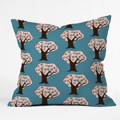 Vintage Trees Throw Pillow Size: 16 H x 16 W x 4 D