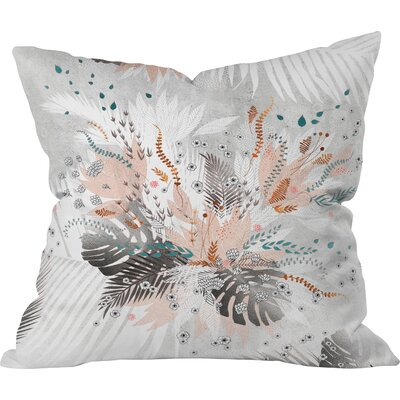 Throw Pillow Size: 16 H x 16 W x 4 D, Color: Silver