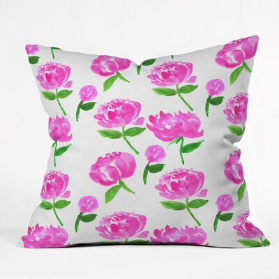 Peonies in Bloom Throw Pillow Size: 16 H x 16 W x 4 D