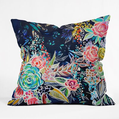 Night Bloomer Throw Pillow Size: 16 H x 16 W x 4 D