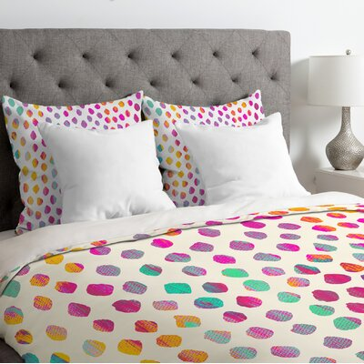 Dot Duvet Cover Size: Queen