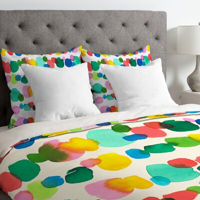 Dots Duvet Cover Size: King